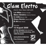 Flyer Glam Electro 2006